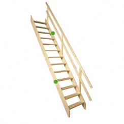 MSU wooden stationary staircase