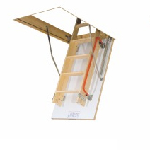 Wooden loft ladder LDK - sliding section