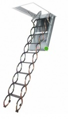 LSF metal scissors loft ladders